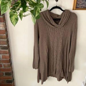 Jeanne Pierre Cowl Sweater Dress